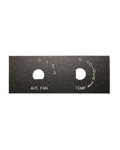 Faceplate,A/C Fan-Temp